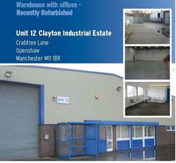 UNIT 12, CLAYTON INDUSTRIAL ESTATE, CRABTREE LANE, OPENSHAW, MANCHESTER,  M11 1BR