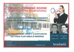 TO LET - COMING SOON!  Wadhurst, East Sussex - New Unit with Planning Consent for use as a Children's Nursery