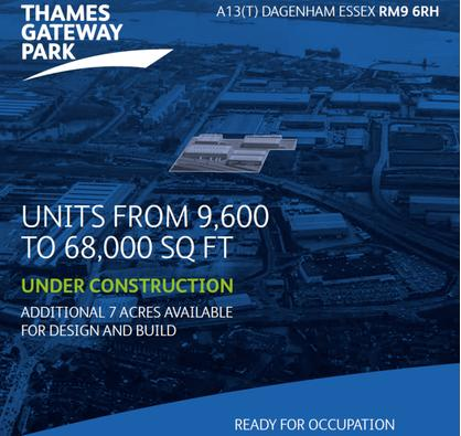 Under Construction - Units from 9,600 to 68,000 sq ft