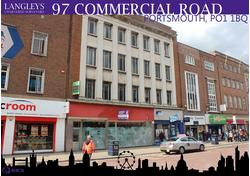 97 COMMERCIAL ROAD PORTSMOUTH PO1 1BQ                                       OFFICES TO FIRST SECOND AND THIRD FLOORS