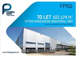 To Let Modern Warehouse Unit FP102 in Fradley Park, Lichfield